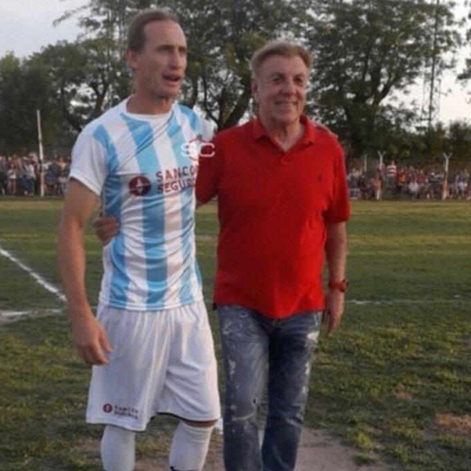 Adrián Bastía tuvo su partido despedida con amigos de Racing, Colón y otros equipos - Sin Mordaza