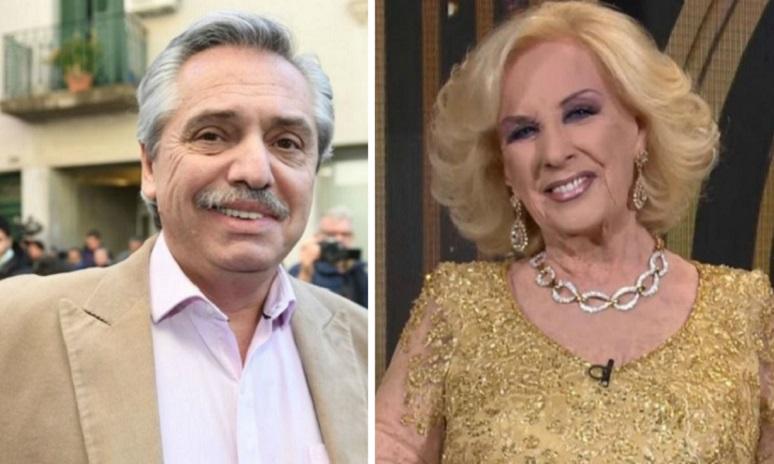 Mirtha Legrand quiere a Alberto Fernández en su primer programa